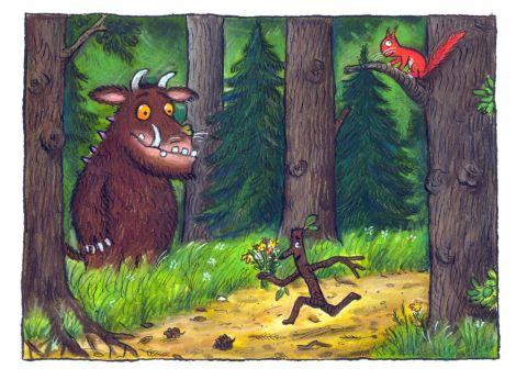 Gruffalo and Stickman by Axel Scheffler