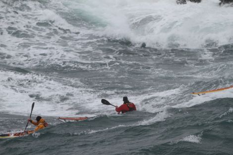 Some of the conditions the kayakers might have to face.