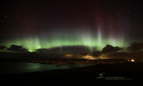 The Mirrie Dancers over Shetland at just before 4am on Sunday morning - Photos: Ivan Hawick