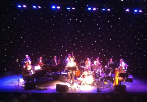 The National Youth Jazz Orchestra featuring Maggie Adamson (far right) at Mareel's 'soft' opening night on Saturday