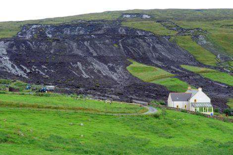 The hills around Uradale Farm following the heavy overnight rainfall