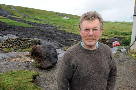 Uradale crofter Ronnie Eunson on Wednesday afternoon - all photos: Millgaet Media