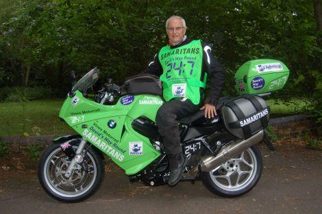 Charity biker David Exley.