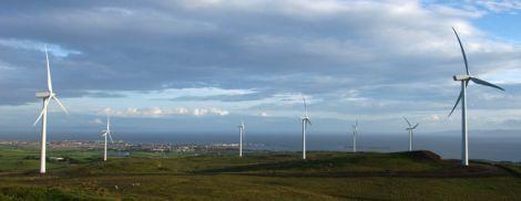 An impression of the Viking Energy wind farm. Pic. Viking Energy