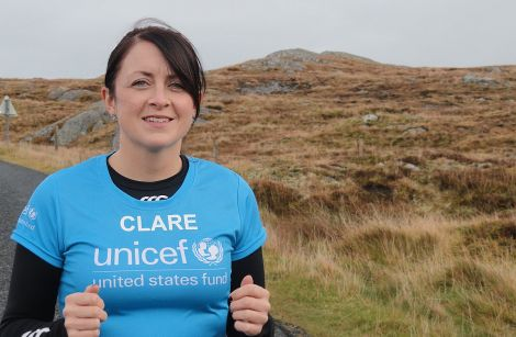 Clare Pearson has been training hard for next weekend's New York marathon. Pic. Shetland News
