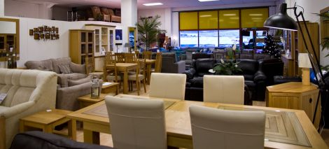 The showroom at Irvine Interiors.