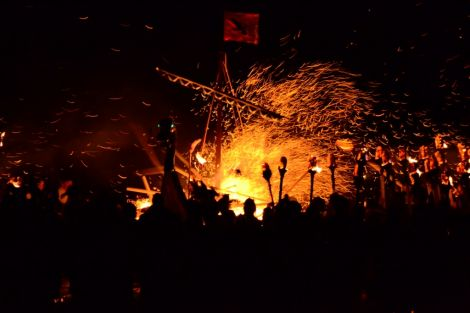 The burning of the galley - Photo: Mark Berry