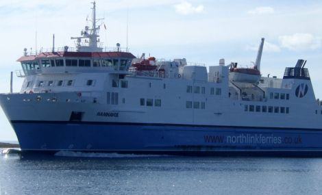 The passenger ferry Hamnavoe is expected to be out of service for four weeks - Photo: ShetNews
