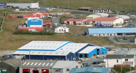The Ocean Kinetics building site back in May last year - Photo: Shetland News.
