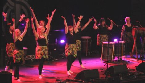 Hurray! It's all dancing, all drumming Aestaewest. Photo Davie Gardner