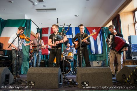 Celtic folk rock band Skerryvore were the first on stage at the opening concert - Photos: Austin Taylor