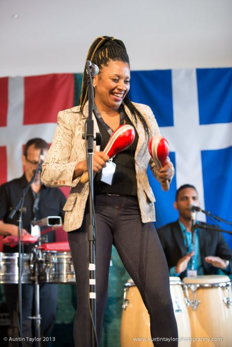 Yuriselys Moreno Soria of Cuban band Son Yambu.