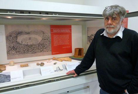 Focussed on brochs: Shetland archivist Brian Smith - Photo: Shetland Amenity Trust