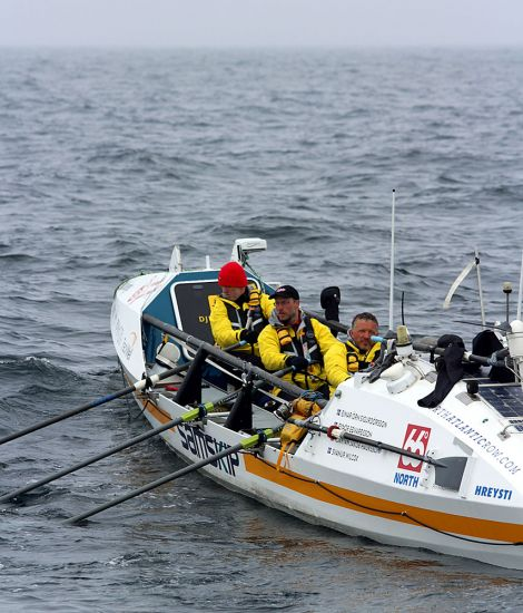 The team making good progress across the north Atlantic.