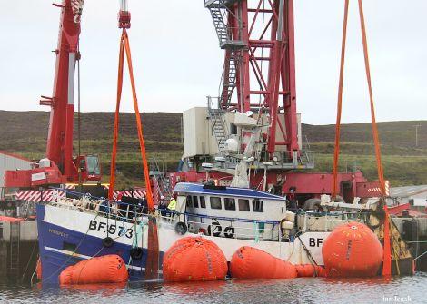 The Prospect alongside Greenhead Base on Thursday morning - Photo: Ian Leask