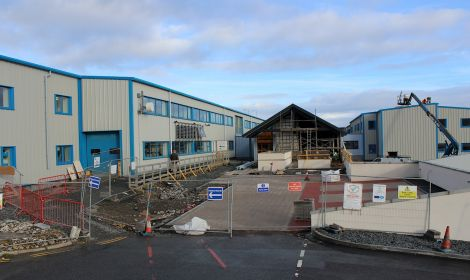 The Shetland College extension building site - all photos: ShetNews