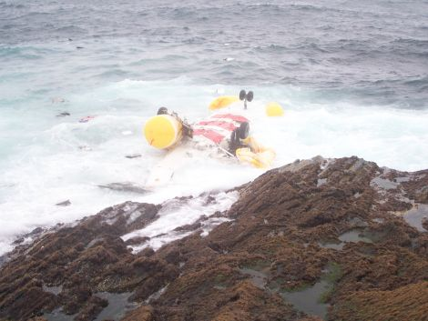 The AAIB report also says that the fuselage was largely intact following impact with the sea but significant damage was caused by wave action - Photo: Peter Hutchison/Shetnews