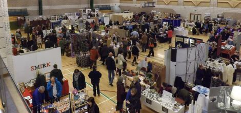 Busy Friday night at the Christmas Craft fair. Photo Tom Jamieson