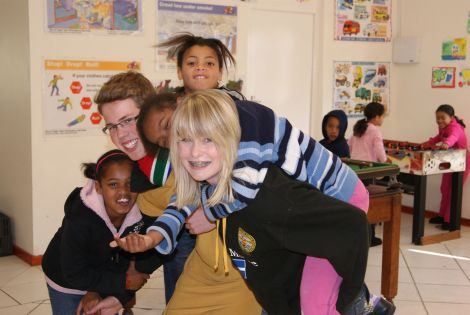 AHS pupil Megan Keppie volunteering in South Africa last year.