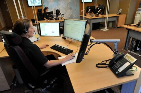 The Inverness fire control room - Photo: SFRS