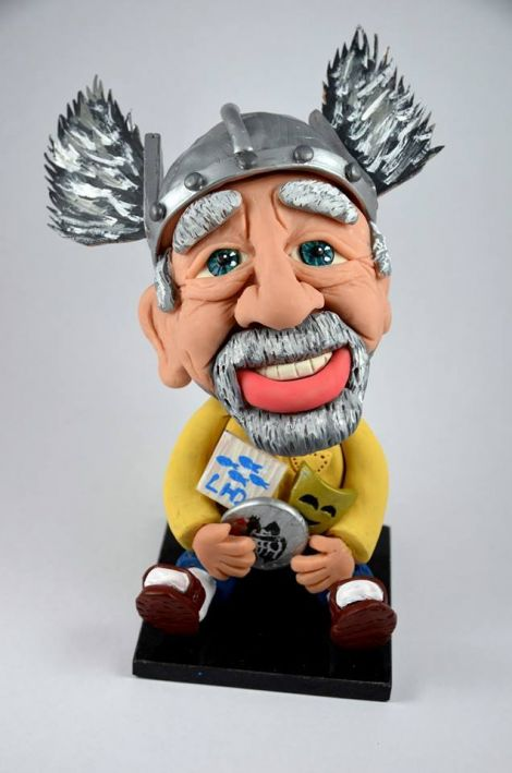 Former guizer jarl Stanley Manson is reported to be loving his bobble head.