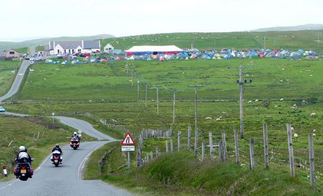 The annual Simmer Dim rally in Vidlin - Photo: ShetNews