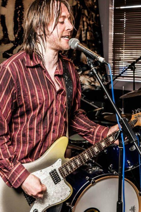 Brundlehorse guitarist Tirval Scott.