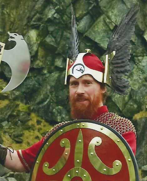 Crofter Derek Jamieson, pictured at last year's Uyeasound Up Helly Aa, is one of the 18 investors.