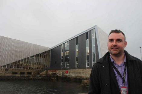 Beyond Mareel - Shetland Arts director Gwilym Gibbons is looking ahead after eight years at the helm. Photo Shetnews