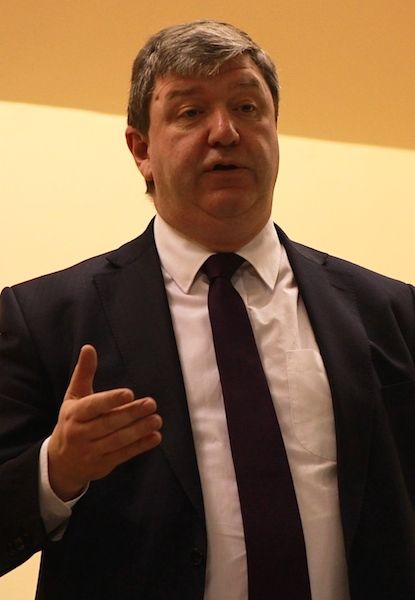 Scottish secretary and Northern Isles MP Alistair Carmichael told the audience Scotland was better off within the UK. Photo: Hans Marter/Shetnews