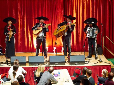 London-based Mariachi Tequila brought a flavour of Mexico to South Nesting. Photo: Chris Brown
