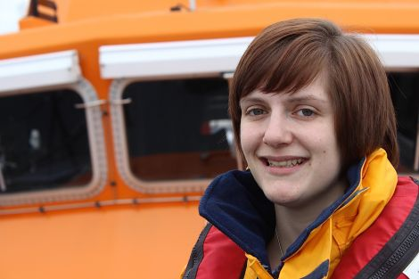 Elle Leslie - volunteering for the lifeboat 'not a big deal' - Photo: Hans J Marter/ShetNews