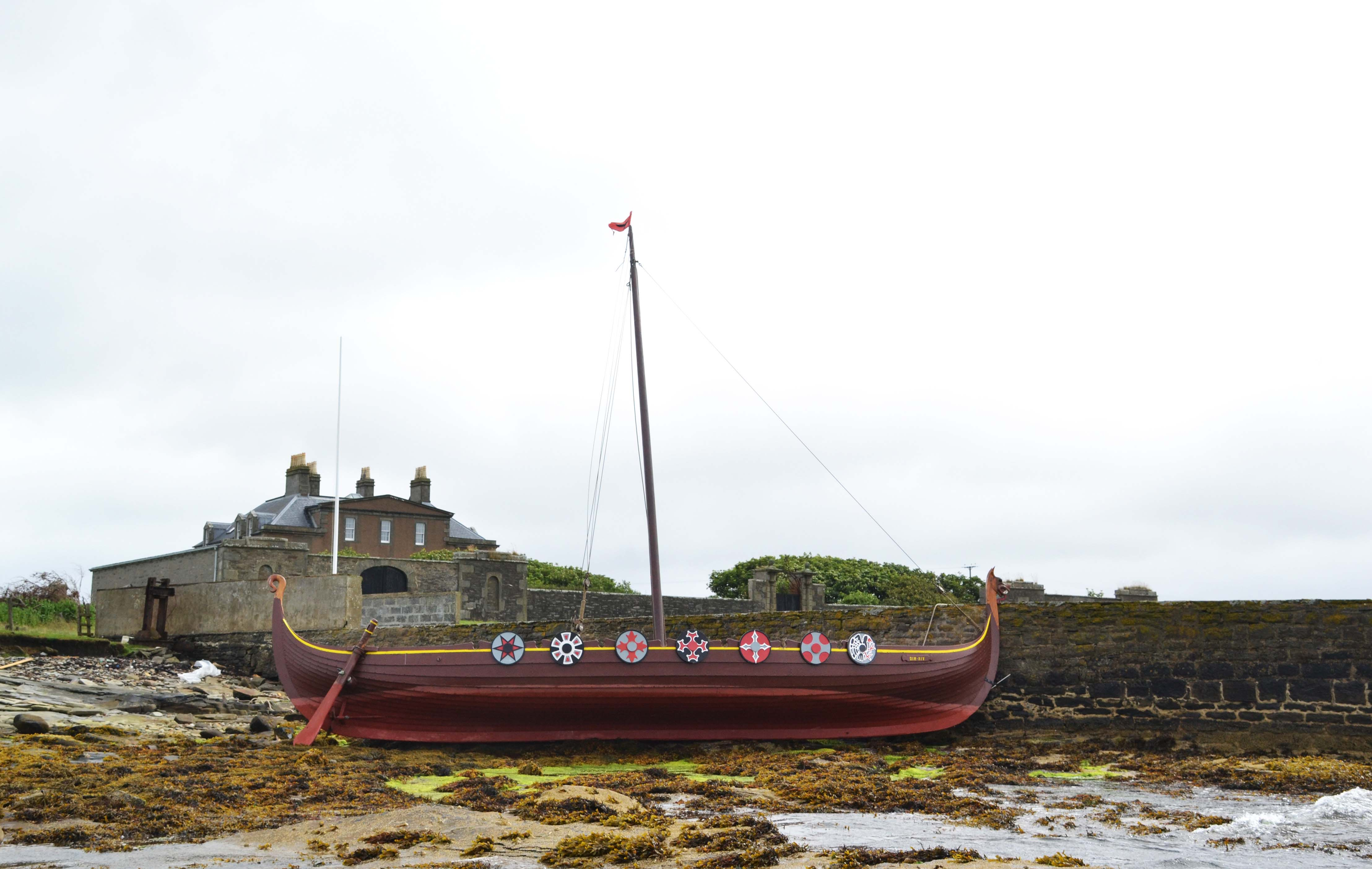 The Dim Riv broke free and drifted across to Bressay overnight. Photo: Charlie Umphray