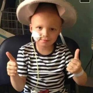 Six year old Charlie Newlands is receiving treatment for luekaemia.