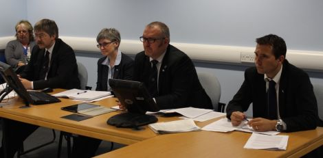 Shetland Islands Council was represented by leader Gary Robinson, with policy manager Peter Peterson (right), chief legal officer Jan Riise and corporate director Christine Ferguson. Senior communications officer Carol Anderson is on the far left.