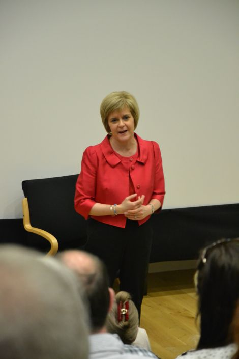 "Nicola Sturgeon described the UK's failure to set up an oil fund as a ""monumental mistake"" during her visit. Photo: Shetnews"