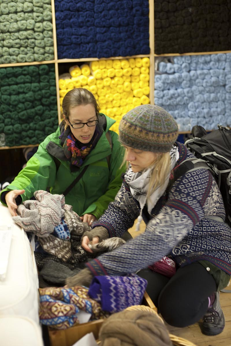 The joy of rummaging through a Shetland wool shop - Photo: Frank Bradford
