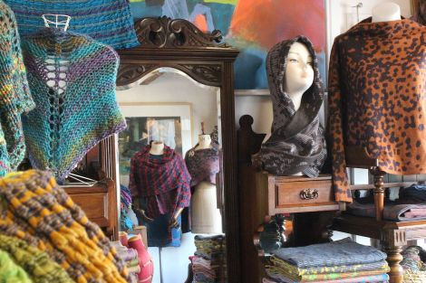 Niela Nell shop in Hoswick: 'using emotion as a starting point' - Photo: Hans J Marter/ShetNews