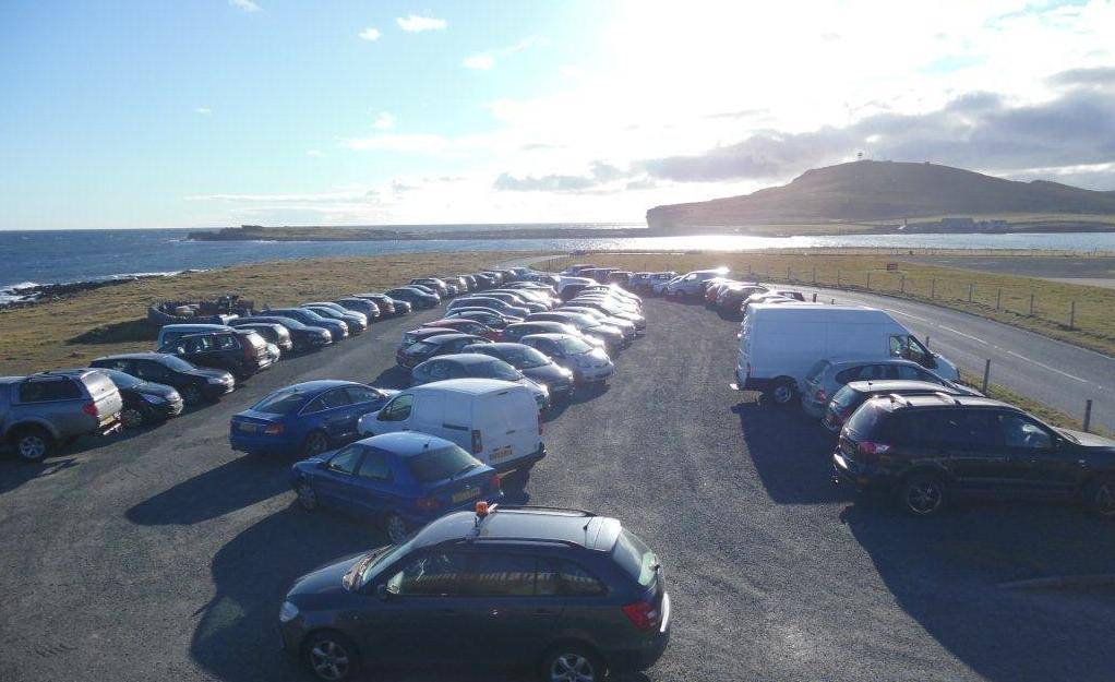 The overspill car park at the airport memorial is also full to capacity.