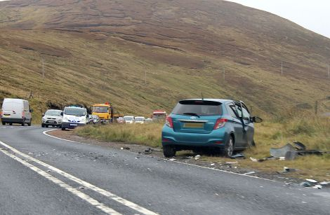 The crash happened at around half past eight on Tuesday morning - Photo: Shetnews