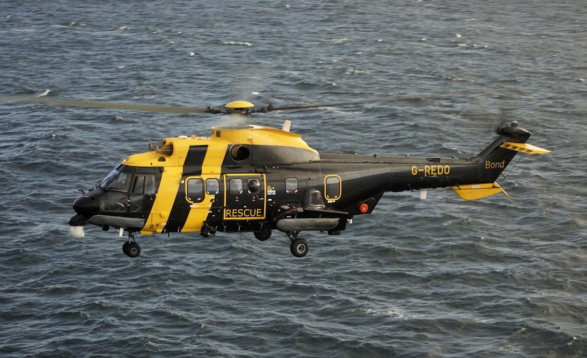 The Bond-operated Jigsaw helicopter. Photo: Kieran Murray