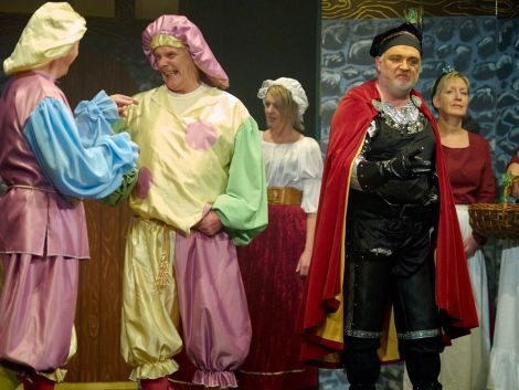 The sheriff of Nottingham withe the bumbling duo Whippem and Floggem (played by George and John Webster)