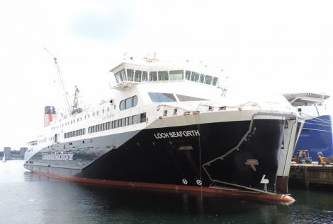 The new £42 million Ullapool to Stornaway ferry Loch Seaforth launched this year, fully funded by the Scottish government.