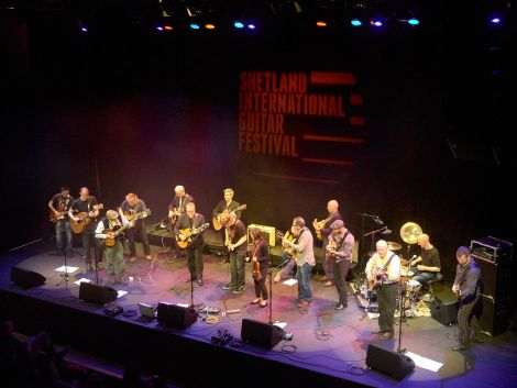 The grand finale of what has been a thoroughly successful 2014 Shetland International Guitar Festival. Photo: Chris Brown