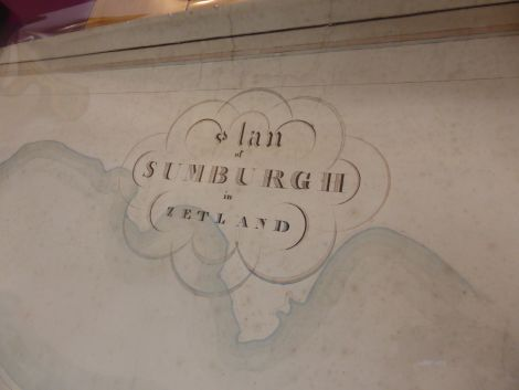 The 'cartouche' at the top of the map that identifies it as the work of AD Mathewson.
