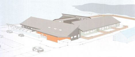 An aerial view of the planned centre.