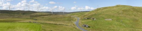 How the Viking Energy wind farm might look from the Billister and Laxfirth road at North Nesting.
