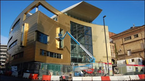 """The £20 million Colston Hall redevelopment in Bristol """"completed on time and on budget""""."""