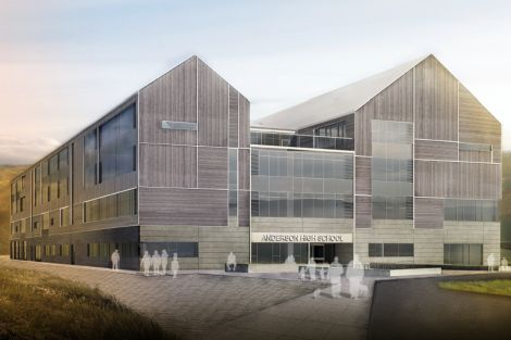 An artist's impression of the east elevation of the new school.