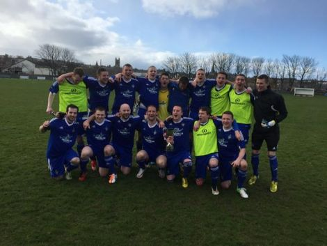 The victorious Shetland football team. Photo SFA